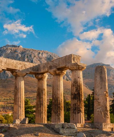 Ancient Corinth From Athens