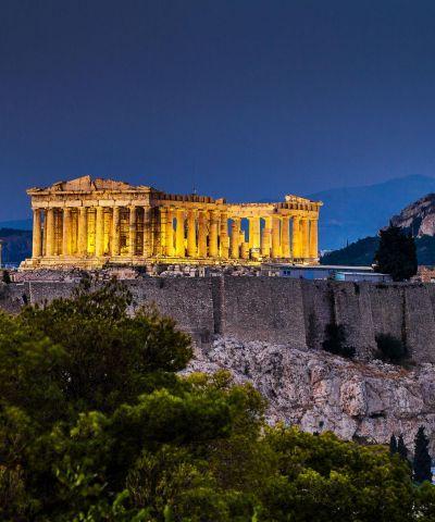 Il Partenone di Notte