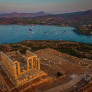 Panoramica Tempio Di Poseidone