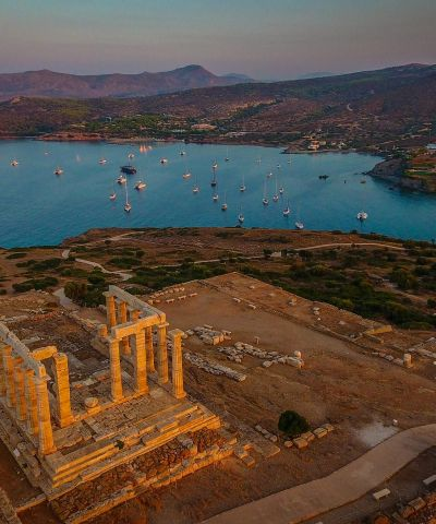 Panoramica di Capo Sounion