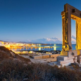 Naxos is an amazing Greek island. It was the centre of archaic Cycladic culture. The island is famous as a source of emery, a rock rich in corundum, which until modern time was one of the best abrasives available. The largest town and capital of the island is Chora or Naxos City.